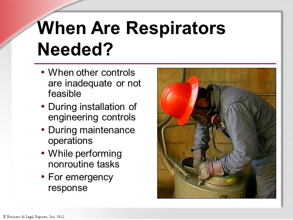 When Are Respirators Needed