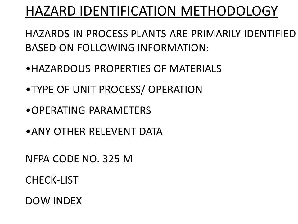 HAZARD IDENTIFICATION METHODOLOGY