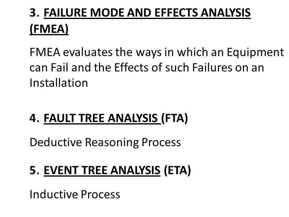 3. FAILURE MODE AND EFFECTS ANALYSIS (FMEA)