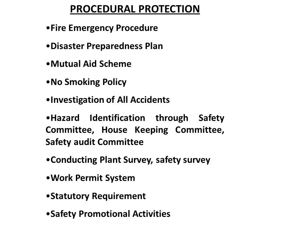 PROCEDURAL PROTECTION