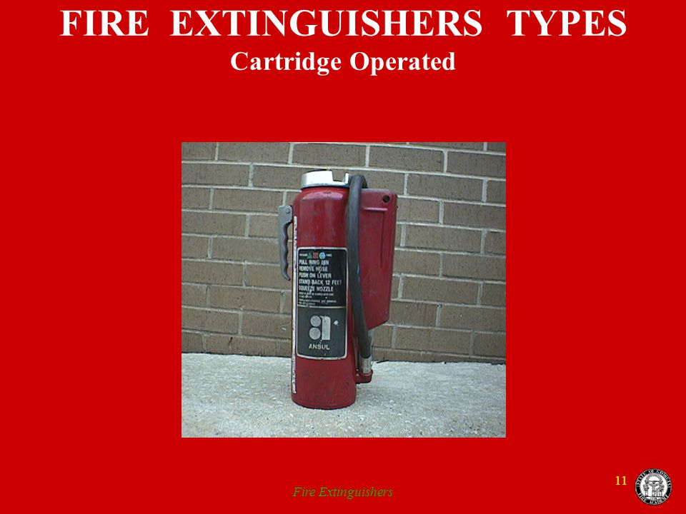FIRE EXTINGUISHERS TYPES Cartridge Operated
