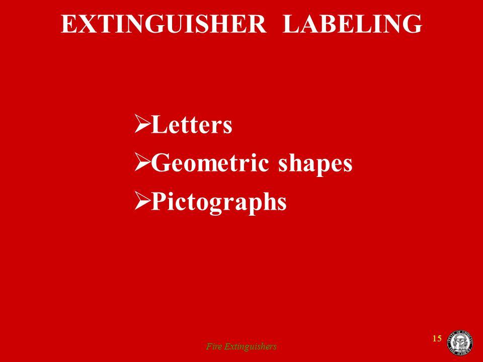 EXTINGUISHER LABELING