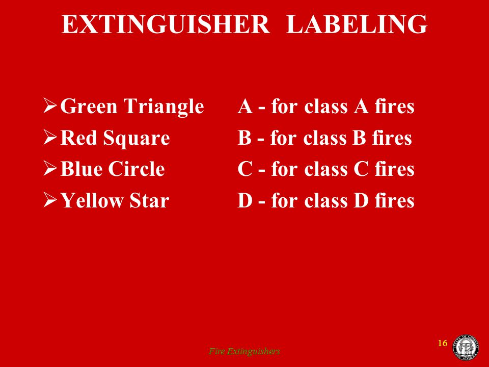 EXTINGUISHER LABELING