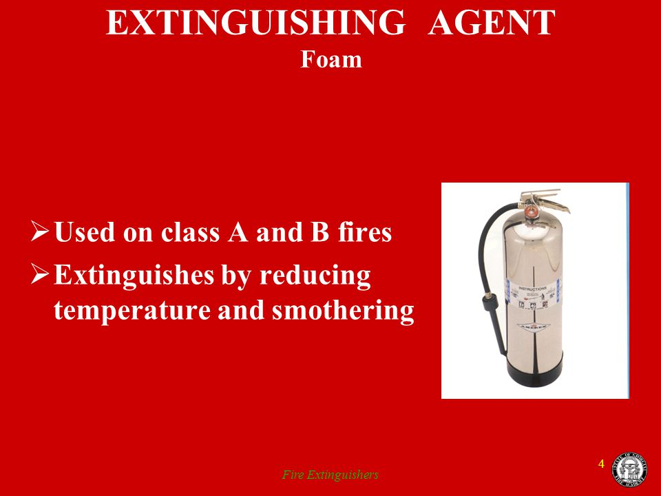 EXTINGUISHING AGENT Foam
