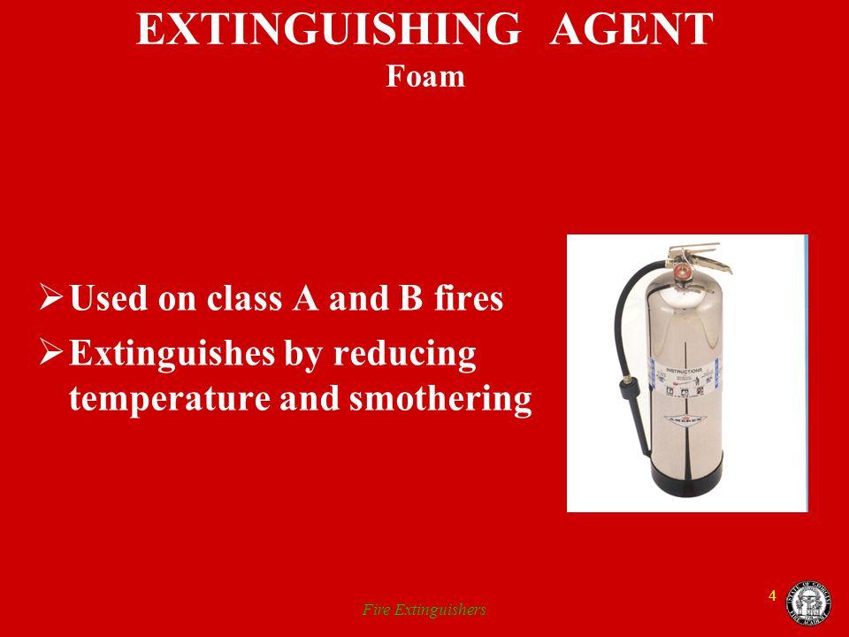 EXTINGUISHING AGENT Foam