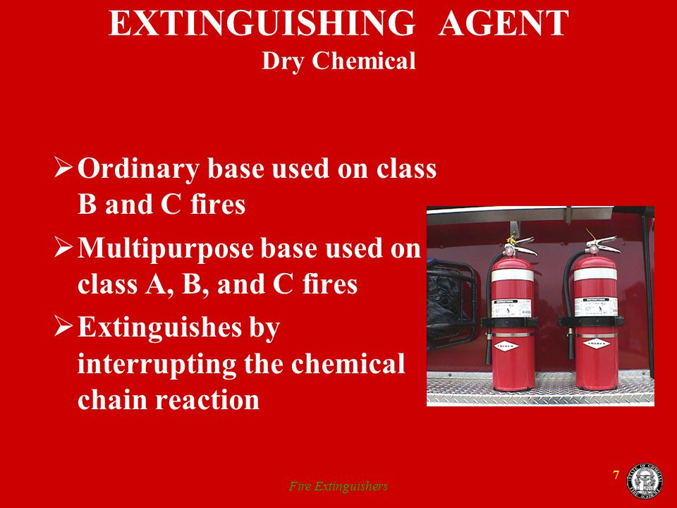 EXTINGUISHING AGENT Dry Chemical