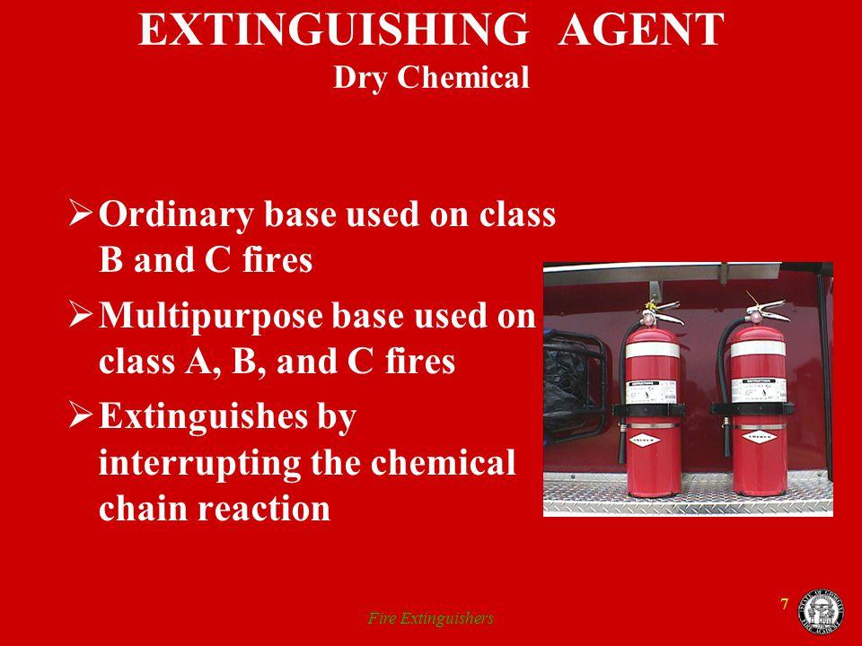 EXTINGUISHING AGENT Dry Chemical