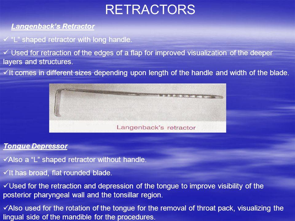 RETRACTORS Langenback's Retractor