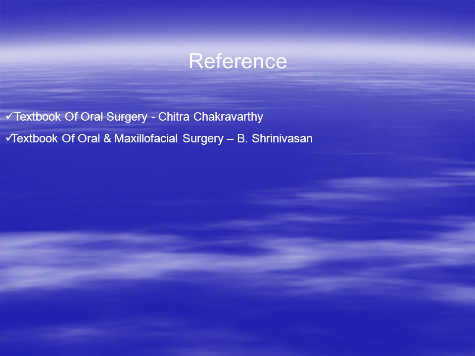 Reference Textbook Of Oral Surgery - Chitra Chakravarthy