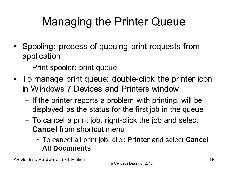 Managing the Printer Queue