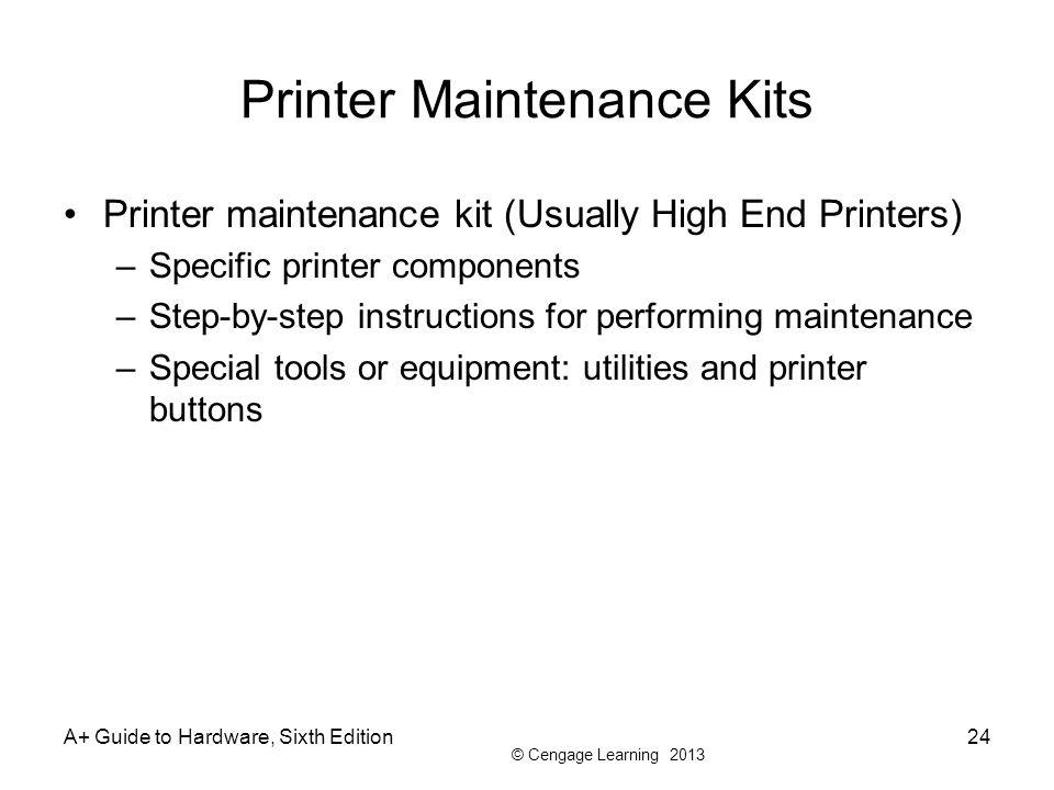 Printer Maintenance Kits
