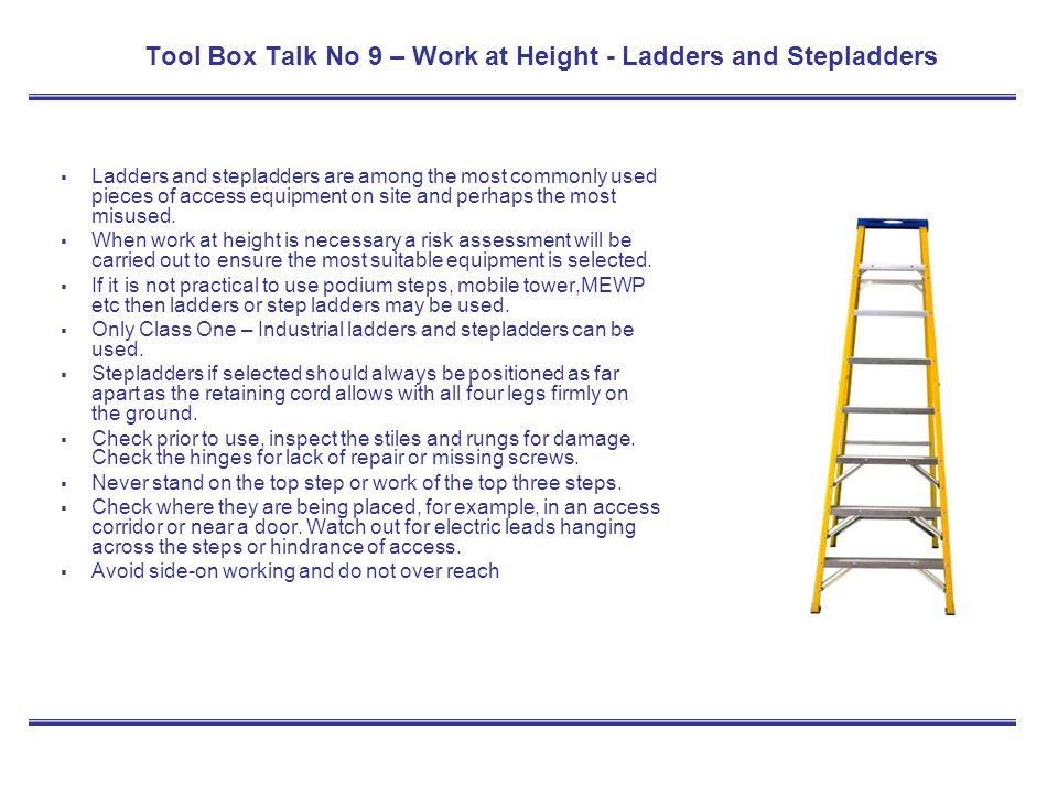 Tool Box Talk Training Kit Ppt Download