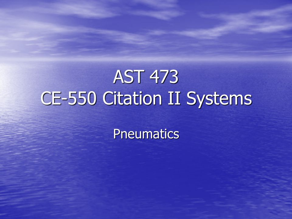 AST 473 CE-550 Citation II Systems