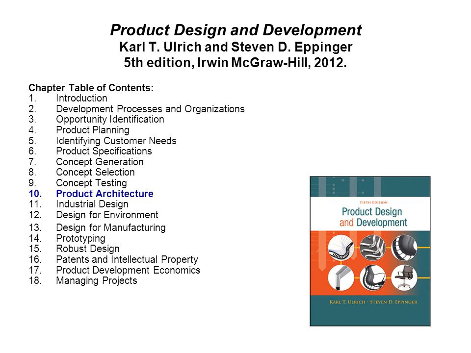Product Design and Development Karl T. Ulrich and Steven D