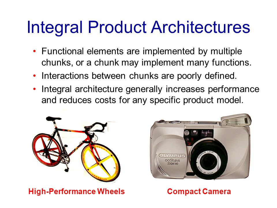 Integral Product Architectures