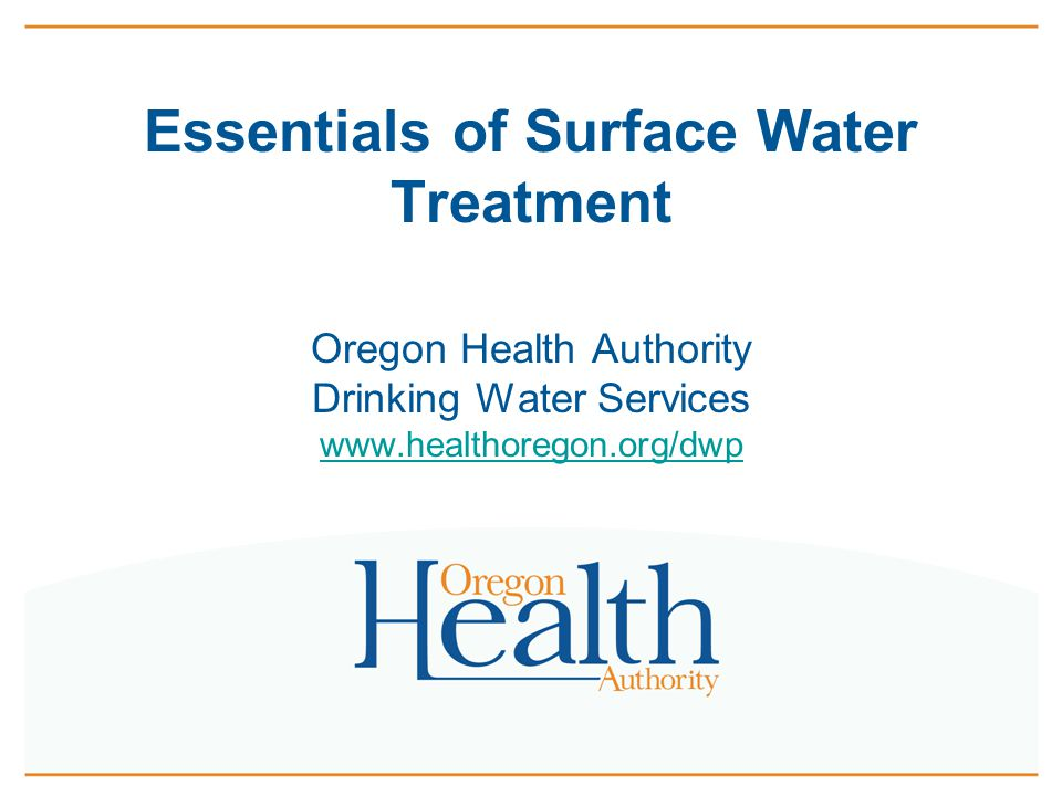 Essentials of Surface Water Treatment