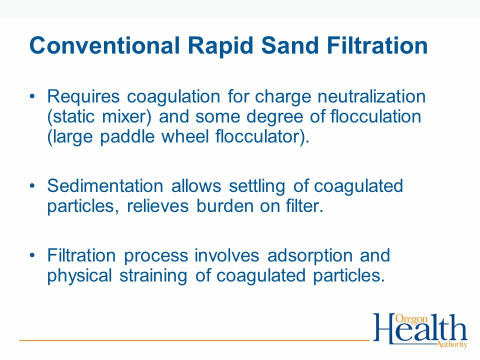 Conventional Rapid Sand Filtration