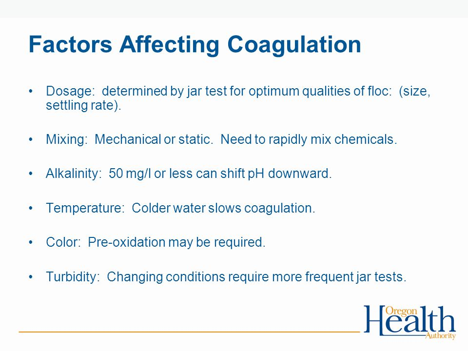 Factors Affecting Coagulation