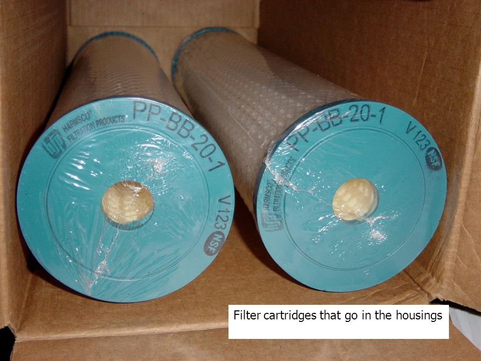 Filter cartridges that go in the housings