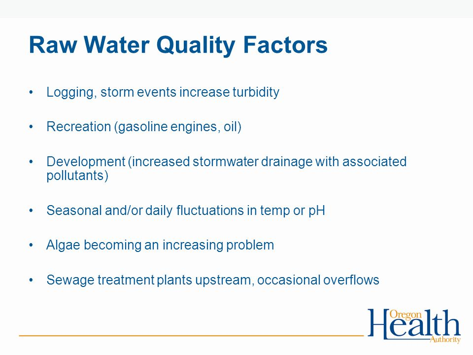 Raw Water Quality Factors