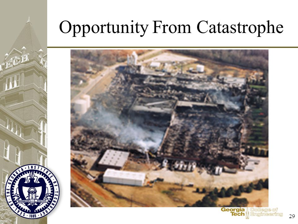 Opportunity From Catastrophe