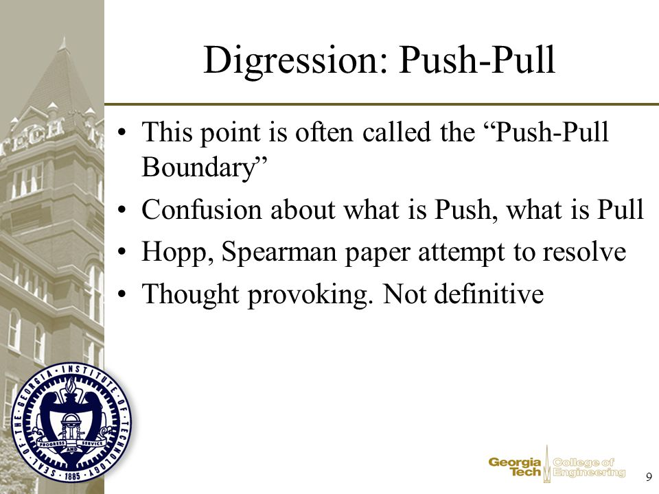 Digression: Push-Pull