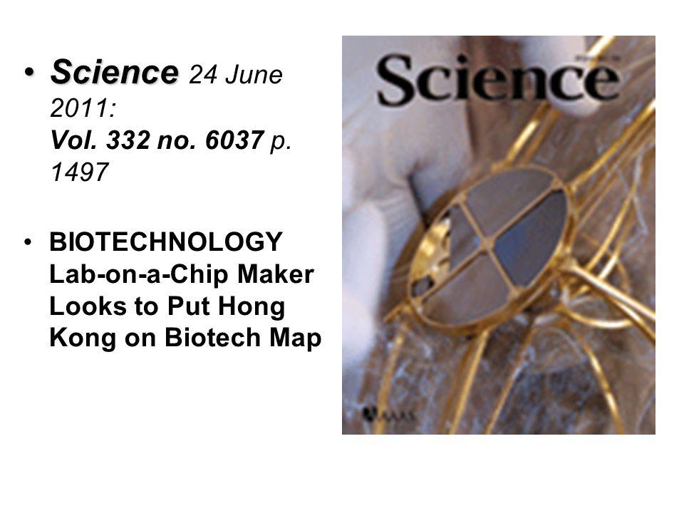 Science 24 June 2011: Vol. 332 no. 6037 p.