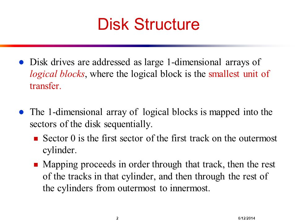 Chapter 14: Mass-Storage Systems - ppt download