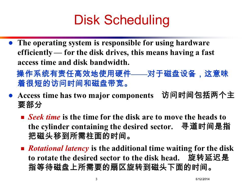 Disk Scheduling
