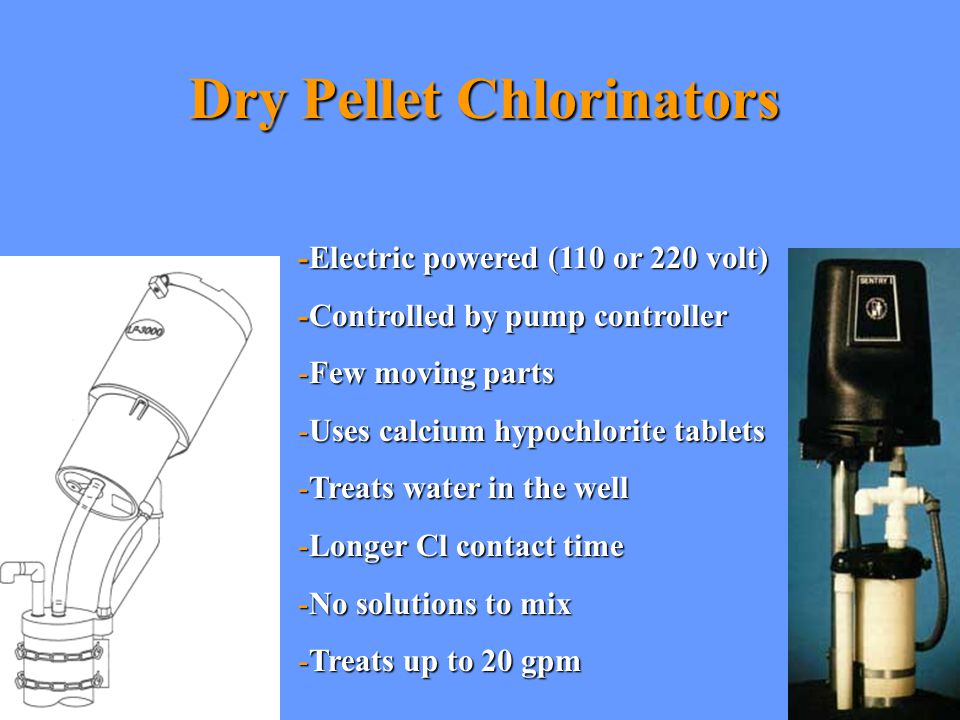 Dry Pellet Chlorinators