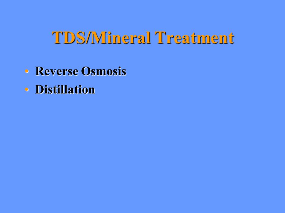 TDS/Mineral Treatment