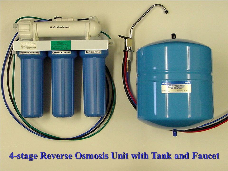 4-stage Reverse Osmosis Unit with Tank and Faucet