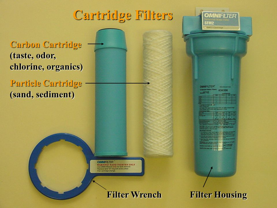 Cartridge Filters Carbon Cartridge (taste, odor, chlorine, organics)