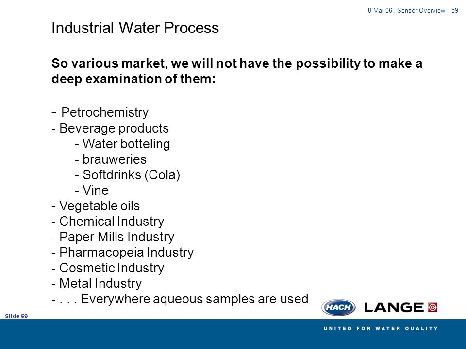 Industrial Water Process