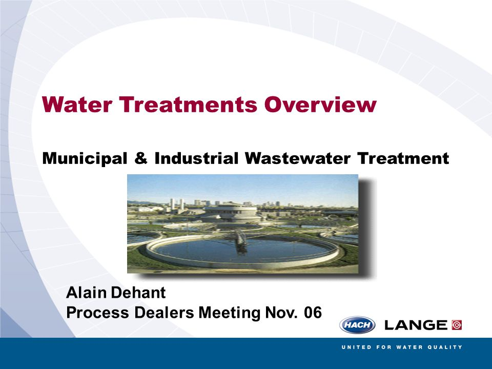 Water Treatments Overview