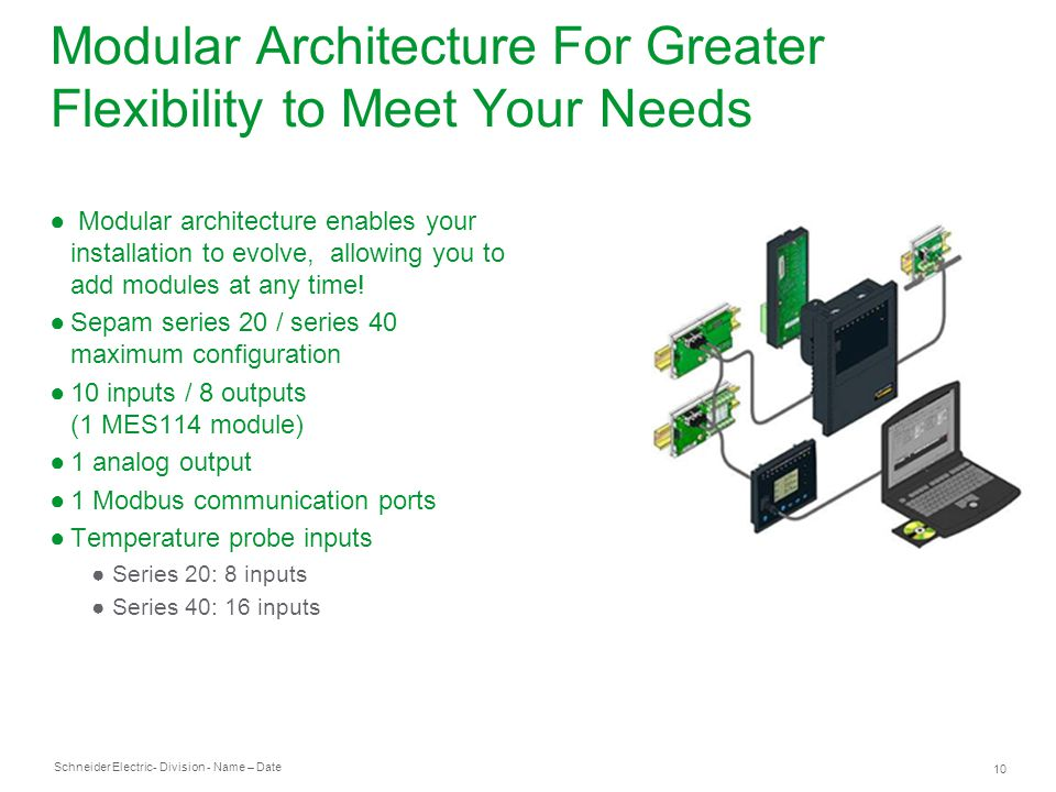 Modular Architecture For Greater Flexibility to Meet Your Needs