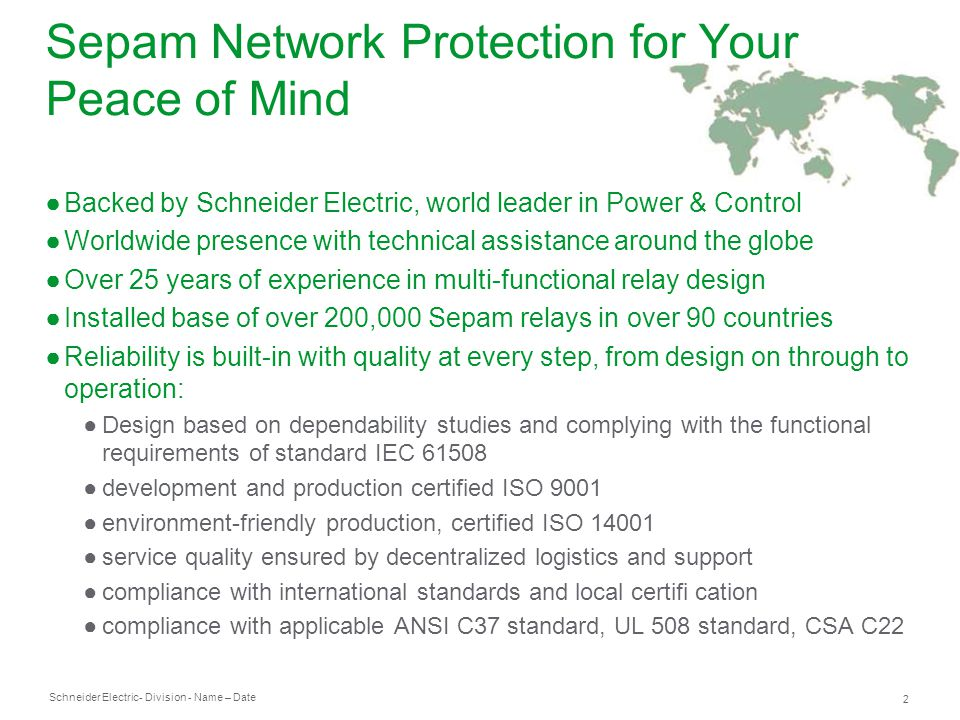 Sepam Network Protection for Your Peace of Mind