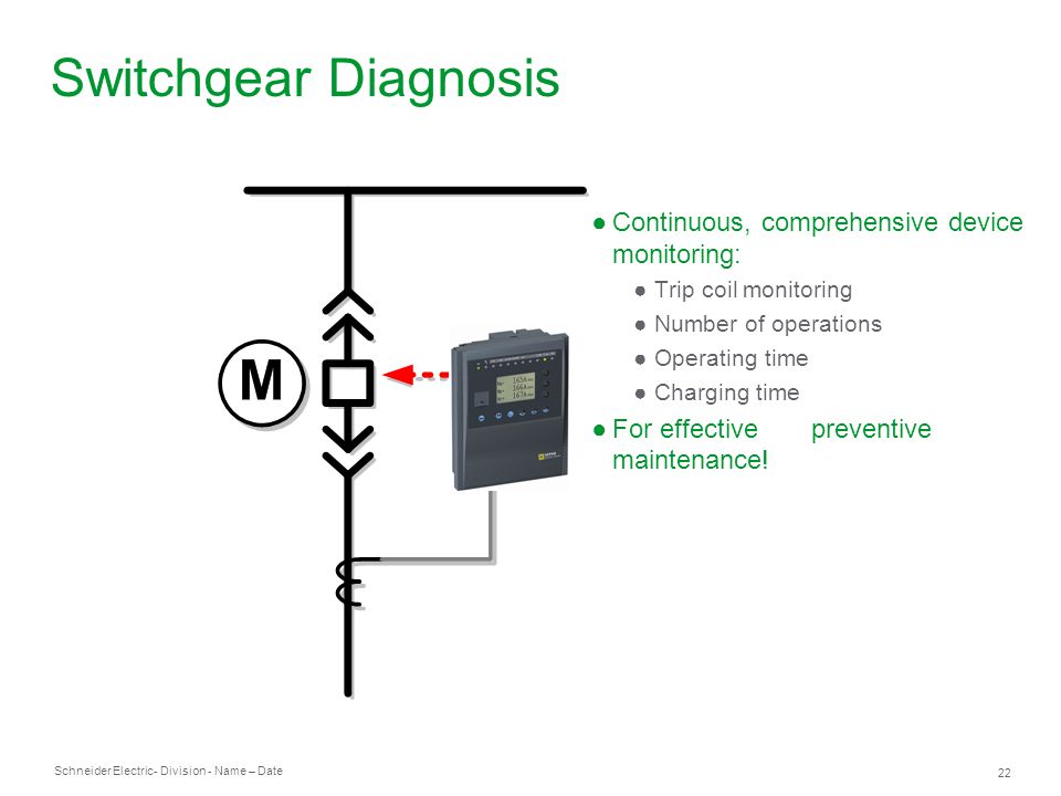 Switchgear Diagnosis Continuous, comprehensive device monitoring: