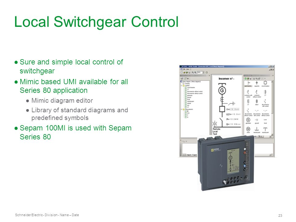 Local Switchgear Control