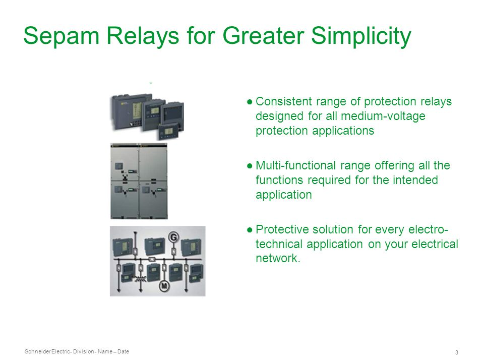 Sepam Relays for Greater Simplicity