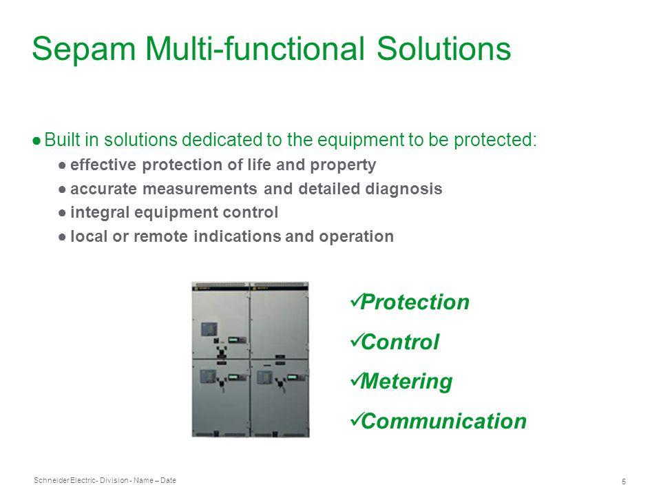 Sepam Multi-functional Solutions
