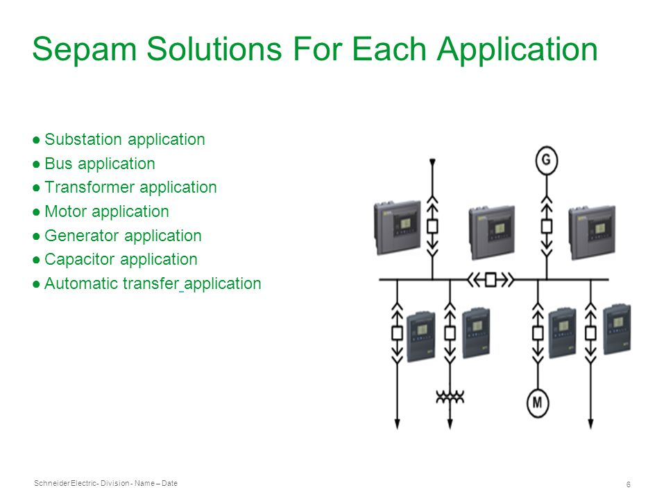Sepam Solutions For Each Application