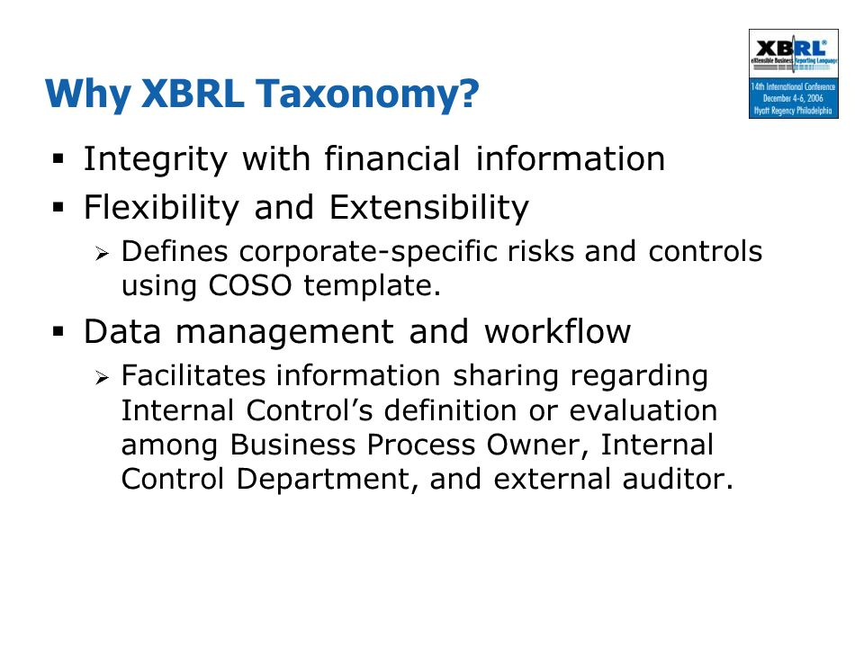 Why XBRL Taxonomy Integrity with financial information