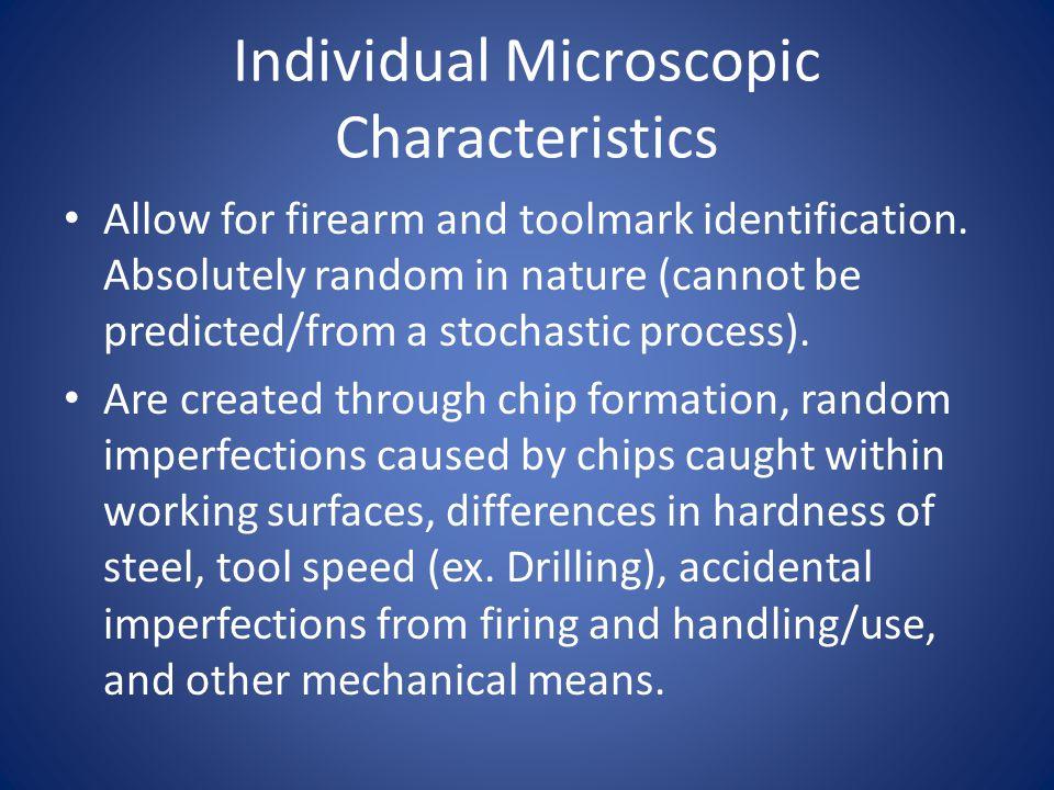Individual Microscopic Characteristics