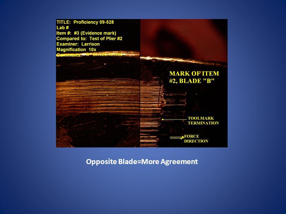 Opposite Blade=More Agreement