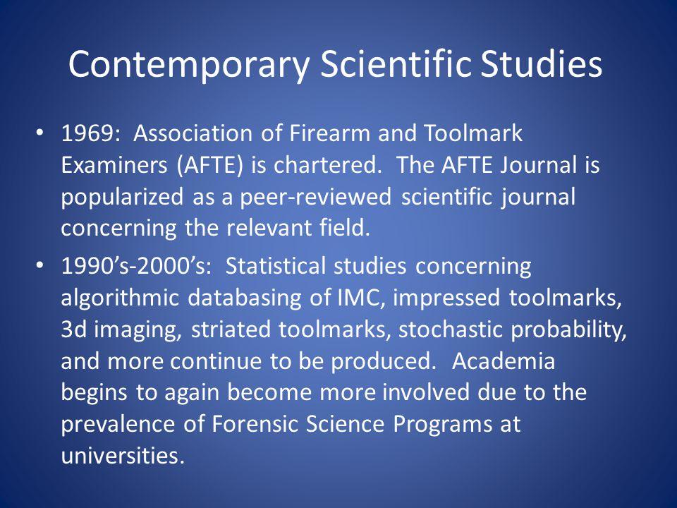 Contemporary Scientific Studies