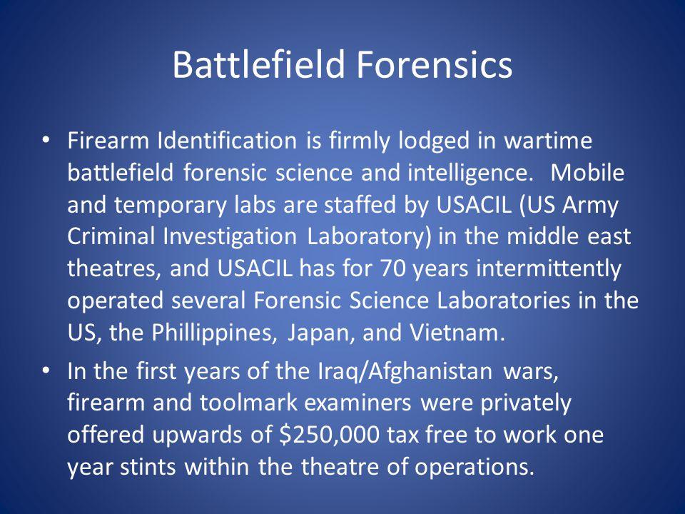 Battlefield Forensics