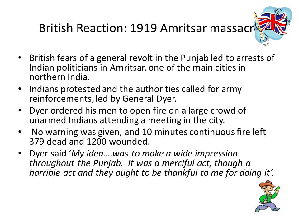 British Reaction: 1919 Amritsar massacre