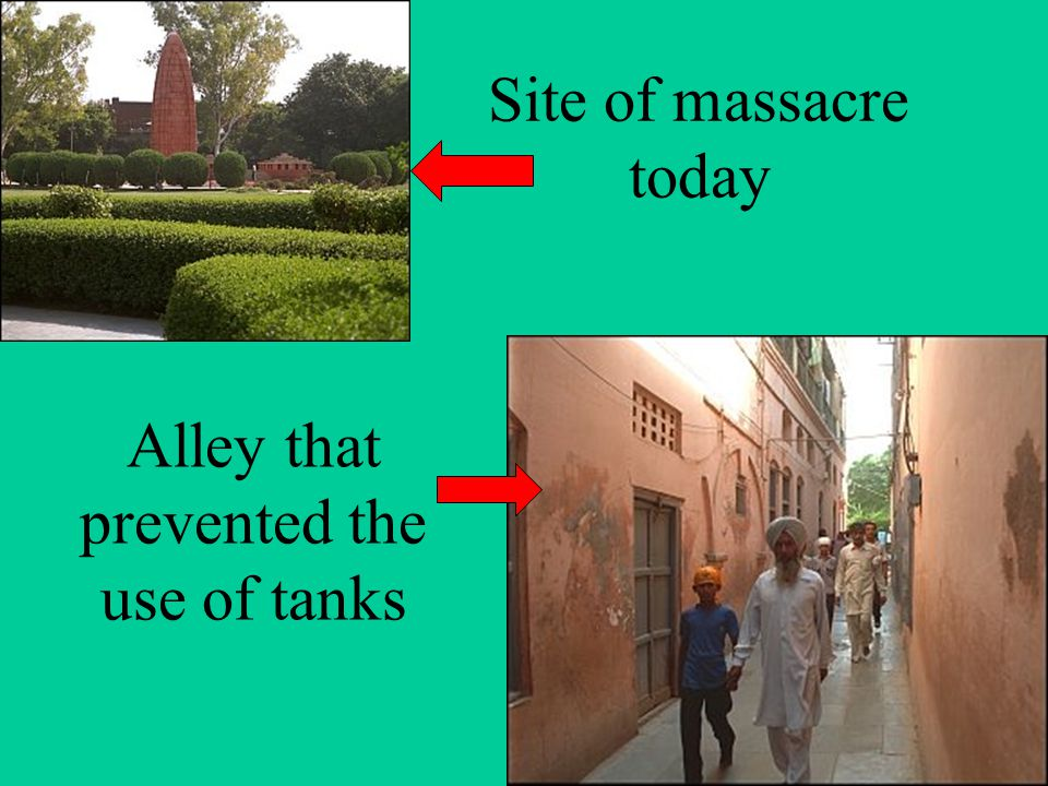 Alley that prevented the use of tanks