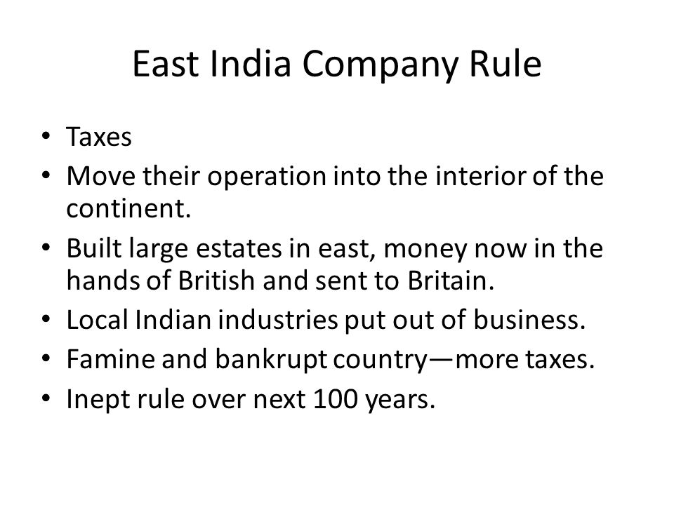 East India Company Rule